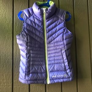 Girls Free Country Lilac Puffer Vest Down Filed XS